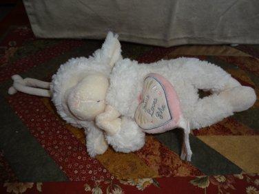 """Nat & Jules Jesus Loves Me Musical Plush 11"""" Lamb Musical Pulldown"""