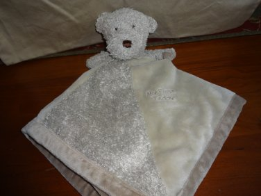 Carters One Size Tan Teddy Security Blanket My First Teddy Rattle