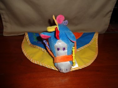Mommy & Me Horse Pony Security Blanket Lovey Plush Crinkles Squeaks