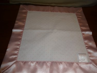 Swaddle Designs Security Blanket Pink and White with Pink Polka Dots Lovey Satin Cuddle