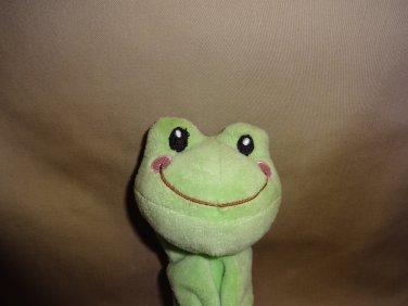 Hallmark Green Lovey Dovey Blankie Frog Security Blanket Velour Baby Smile