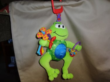 Lamaze Baby Play & Grow Jumpin' Jack Frog Plush Activity Ring Squeak Rattle Toy