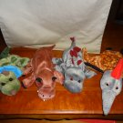 4 Dream USA DINOSAUR Glove Hand Puppet Pterodacyl, T-Rex, Stegosaurus, Triceratops