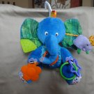Eric Carle Plush Doll  Blue elephant Baby Carseat Toy RATTLE Crinkle Mirror