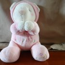 Aurora Baby Now I Lay Me Down To Sleep Plush Bear Pink Giraffe Eating Leaves