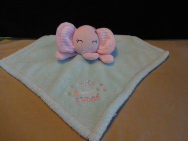 Baby Gear Cute and Sweet Elephant Security Blanket Pink Mint Green Lovey