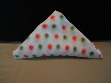Adent by Aden and Anais Swaddle Muslin Cotton Blanket Boy or Girl Red and Green Apple/Flowers