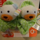 NWT Infantino Foot Rattles- Bear/Puppy (For Ages 0+ months)