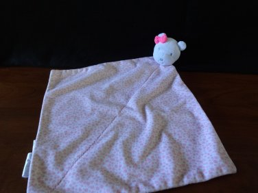 Carter's Precious Firsts White Pink Spotted Plush Bear Security Blanket Lovey