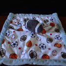 Carter's Baby Boy Plush Security Blanket Football Sports Theme Blue Lovey 14""