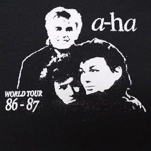 A-Ha band ***MEDIUM*** screen printed t-shirt Black aha