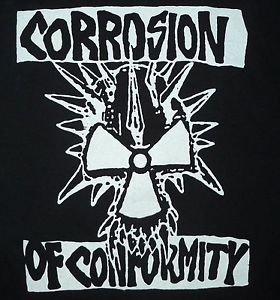 Corrosion of Conformity band ***MEDIUM*** t-shirt Black punk retro heavy metal
