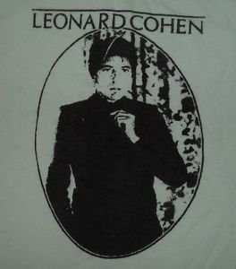 Leonard Cohen ***2XL*** White screen printed t-shirt
