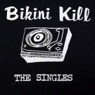 Bikini Kill band Singles ***MEDIUM*** screen printed t-shirt Black retro