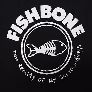 Fishbone band Logo ***MEDIUM*** screen printed t-shirt Black punk retro