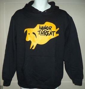 Minor Threat band black hoodie M punk rock retro 50/50 new