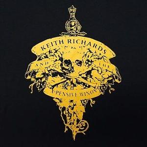 Keith Richards ***MEDIUM*** X-Pensive Winos band printed t-shirt Black retro