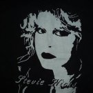 Stevie Nicks Fleetwood Mac band ***SMALL*** screen printed t-shirt Black