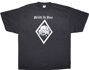 Death in June band ***2XL*** retro screen printed t-shirt Black