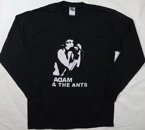 Adam and the Ants band ***MEDIUM*** black long sleeved t-shirt retro new