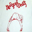 New York Dolls band ***MEDIUM*** screen printed t-shirt Red on White punk retro