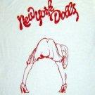 New York Dolls band ***MEDIUM*** screen printed t-shirt Red on White punk retro
