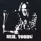 Neil Young singer retro screen printed t-shirt sz S