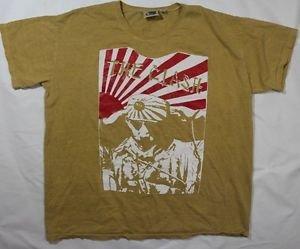 "The Clash band rare ""Kamikazi"" ***XLarge*** screen printed sand-beige t-shirt"