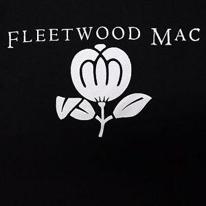 Fleetwood Mac band ***MEDIUM*** Flower screen printed t-shirt Black punk retro