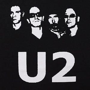 U2 band ***2XL*** screen printed t-shirt Black punk retro