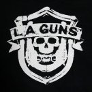 LA Guns band Logo ***SMALL*** screen printed t-shirt Black retro