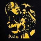 Axl Rose  ***LARGE*** Guns N Roses band Yellow on Black t-shirt screen printed