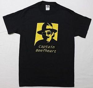 Captain Beefheart ***SMALL*** screen printed t-shirt Yellow on Black new