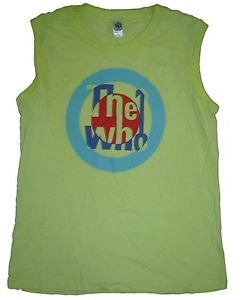 The Who band logo cotton t-shirt / women's top S sleeveless tank punk retro