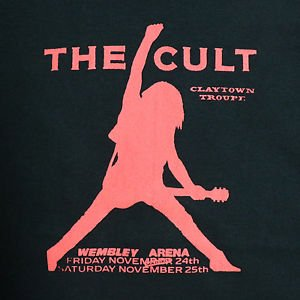 The Cult band t-shirt ***MEDIUM*** Red on Black screen printed punk retro