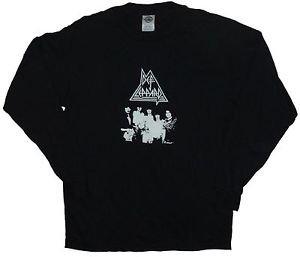 Def Leppard band ***MEDIUM*** long sleeved t-shirt punk rock retro