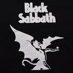 Black Sabbath band ***MEDIUM*** screen printed t-shirt Black punk retro