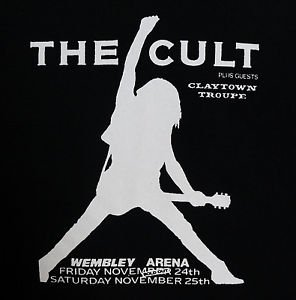 The Cult band t-shirt ***SMALL*** Black screen printed punk retro