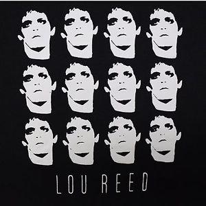 Lou Reed Collage ***XLARGE*** screen printed t-shirt Black punk retro