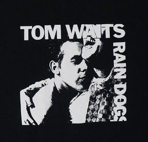 Tom Waits Rain Dogs album ***MEDIUM*** black screen printed t-shirt