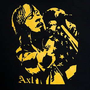 Axl Rose Guns N Roses band ***SMALL*** Yellow on Black t-shirt screen printed