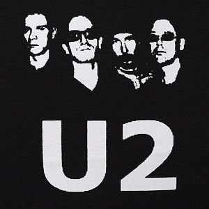 U2 band ***SMALL*** screen printed t-shirt Black punk retro
