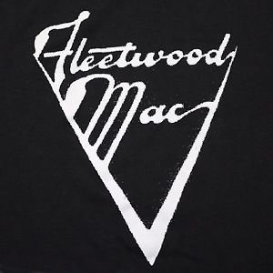 Fleetwood Mac band ***LARGE*** Logo screen printed t-shirt Black punk retro