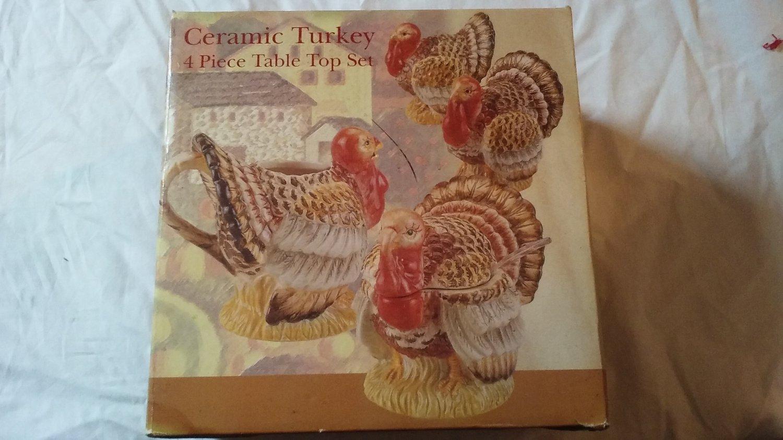 Ceramic Turkey Set