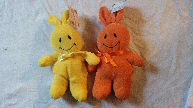 Orange and Yellow Beanbag Bunny