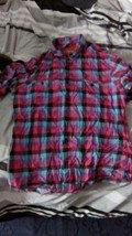 Used Topman Check Gingham Purple Pink Blue Medium Turqouise Black Shirt Short Sleeve Zara H&M