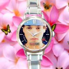 cute taylor caniff round charm watches stainless steel