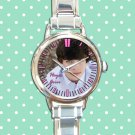 cute hayes grier round charm watches stainless steel