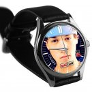 cool taylor caniff leather silver Wristwatches
