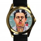 cool nash grier leather gold Wristwatches